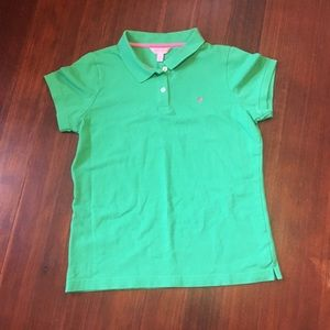 Lilly Pulitzer Polo Shirt Green Kids Size XL